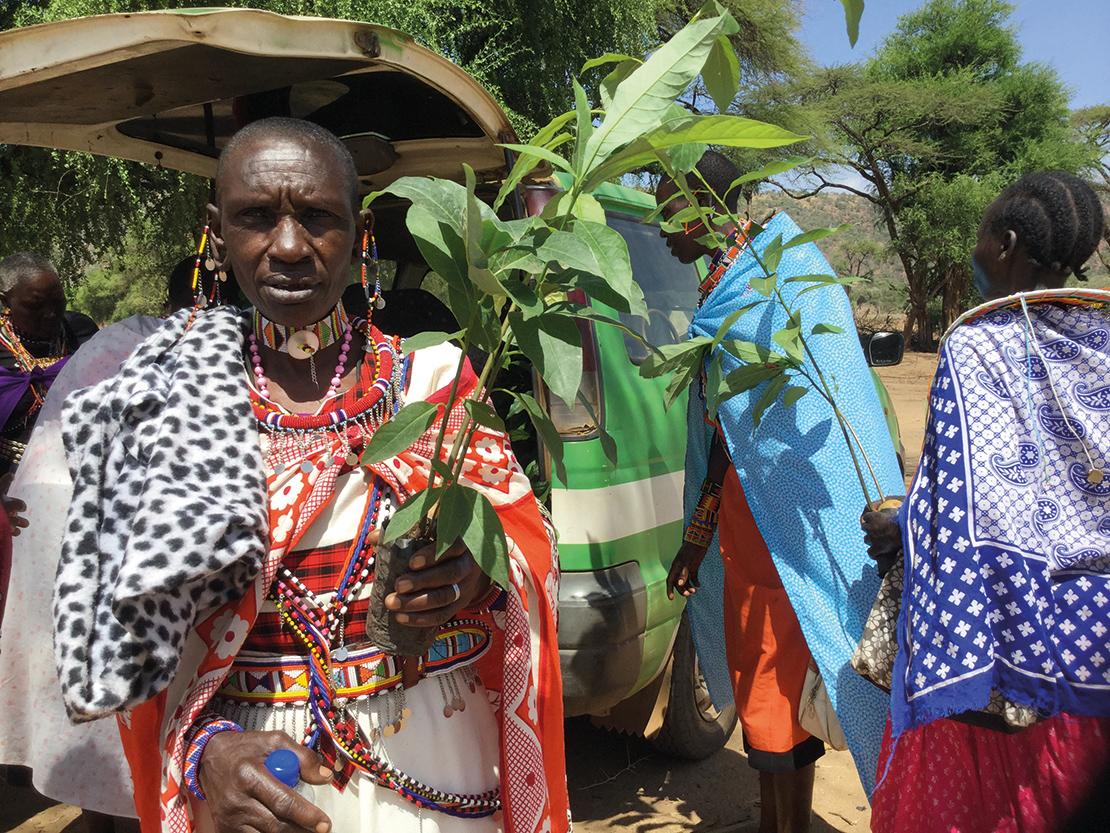 Maasai medicine woman.