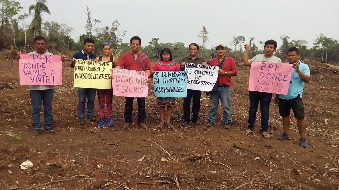 Protest again palm oil. Credit: FECONAU