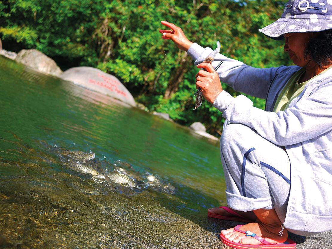 The community fishing area of Kampung Melangkap Tiong. Credit: Alice Mathew.